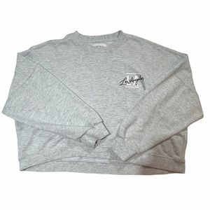 Oversized Small Grey Sweater Cotton On Printed